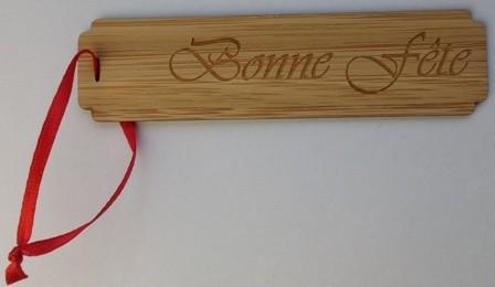 message en bambou BONNE FETE