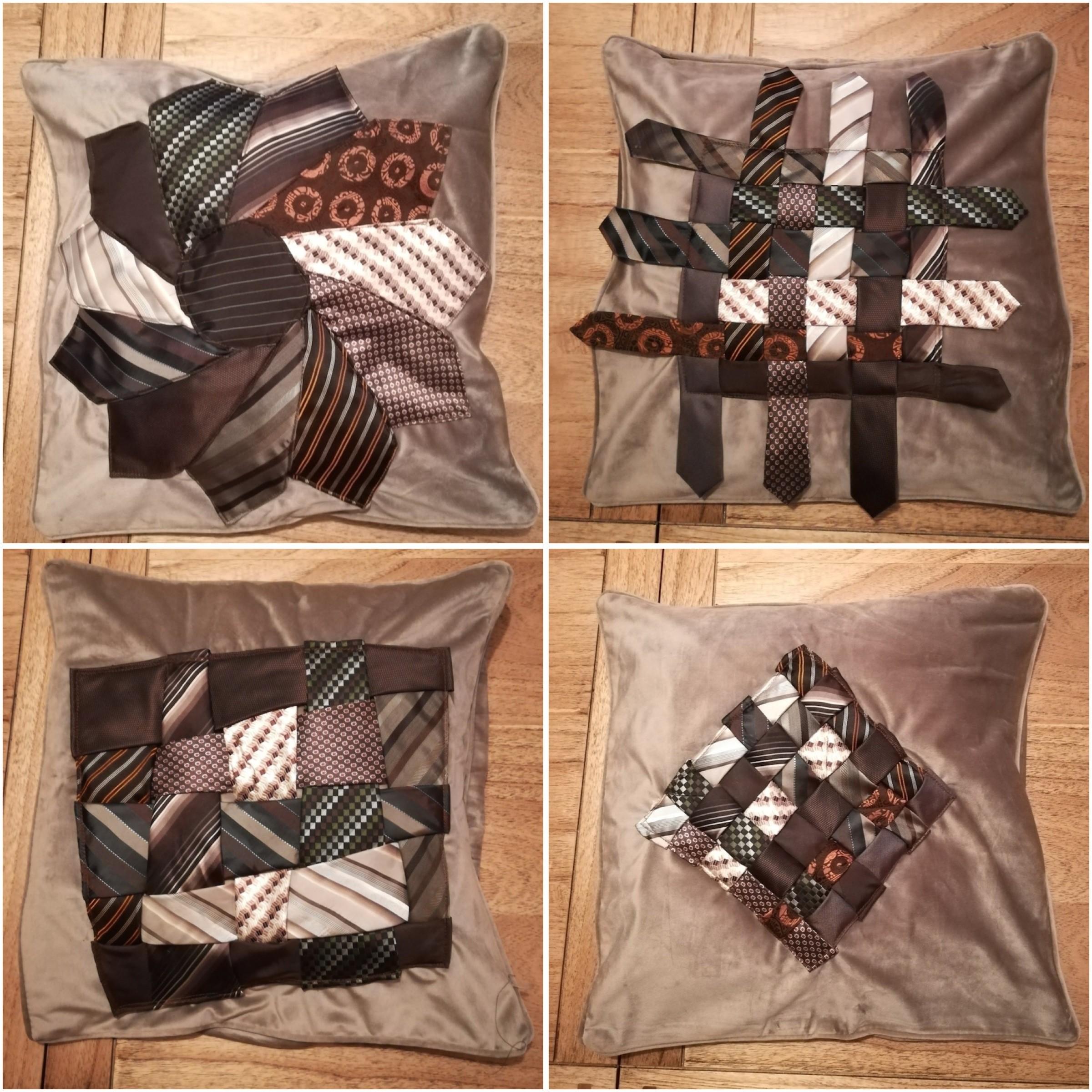 coussin-patchork-cravates-brun
