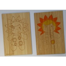 carte postale en bois a colorier