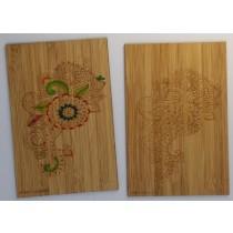 carte en bambou mandala a colorier