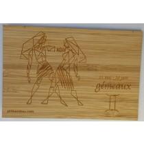 carte zodiaque gémeaux en bambou