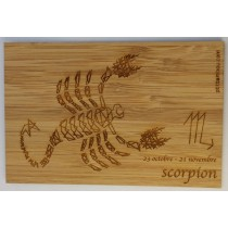 carte en bois zodiaque scorpion