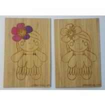 carte en bambou mademoiselle violette