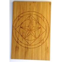 carte en bambou mandala