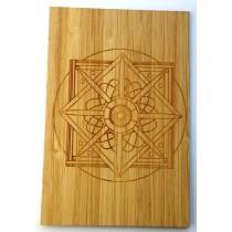 carte en bois mandala