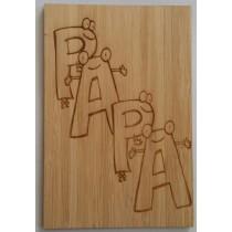 carte en bois papa