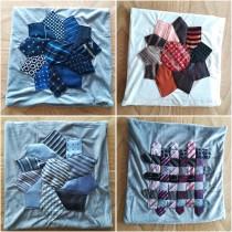 coussin-cravates-patchwork-multicolore