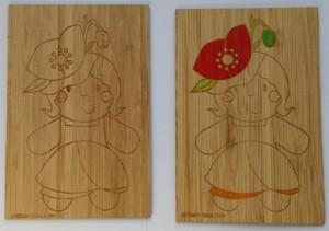 carte en bois a colorier