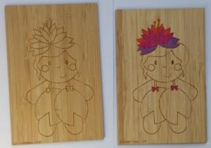 carte postale en bambou nenuphar a colorier